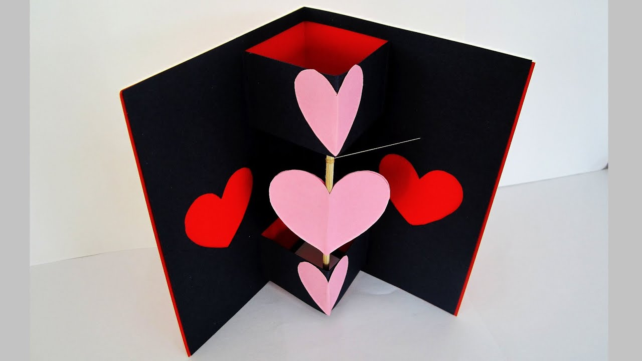 Twirling heart valentines card learn how to make a greeting – Make a Valentine Card