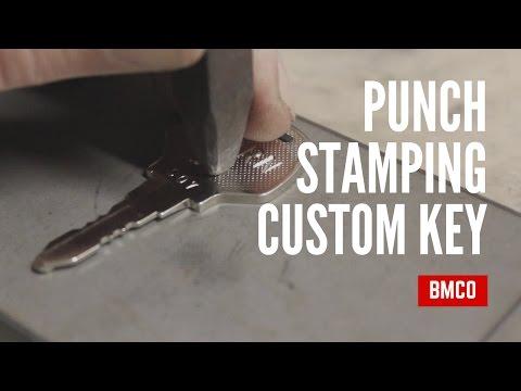 DIY Punch Stamping Letters - Custom Key