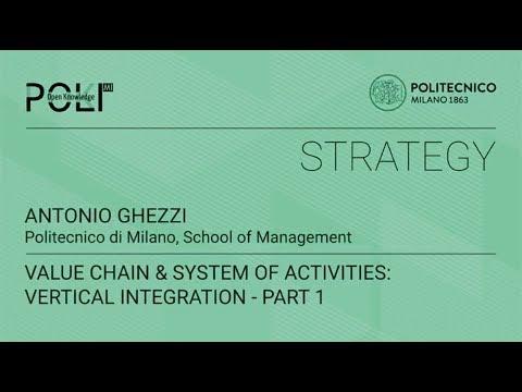 Value chain & system of activities: vertical integration - part 1 (Antonio Ghezzi)