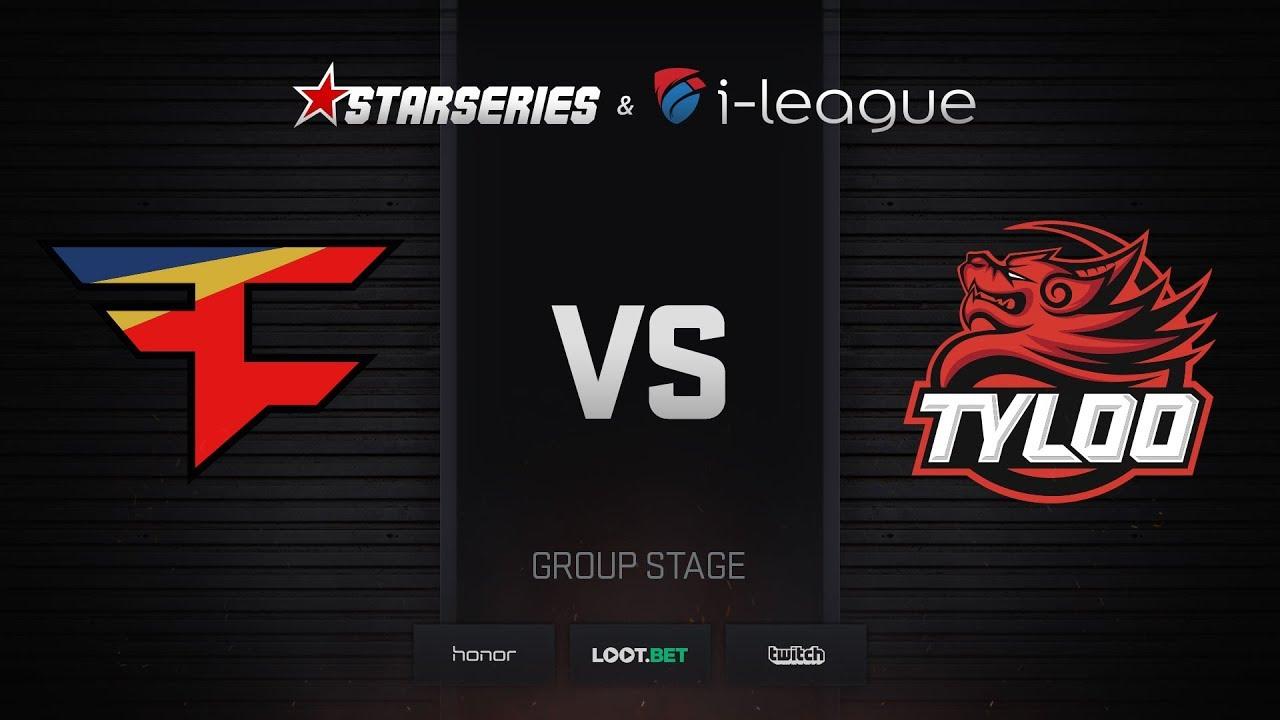 FaZe vs TyLoo, map 2 overpass, StarSeries i-League Season 4 Finals
