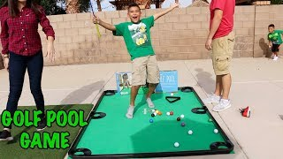 GIANT GOLF POOL GAME - Pool Table with Putters