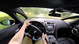 DS 5 Hybrid 4X4 2015 diesel 200BHP POV test drive GoPro