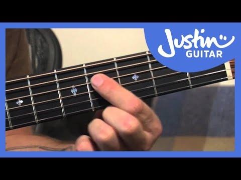 A Shape Major Barre Chord Grip   JustinGuitar.com