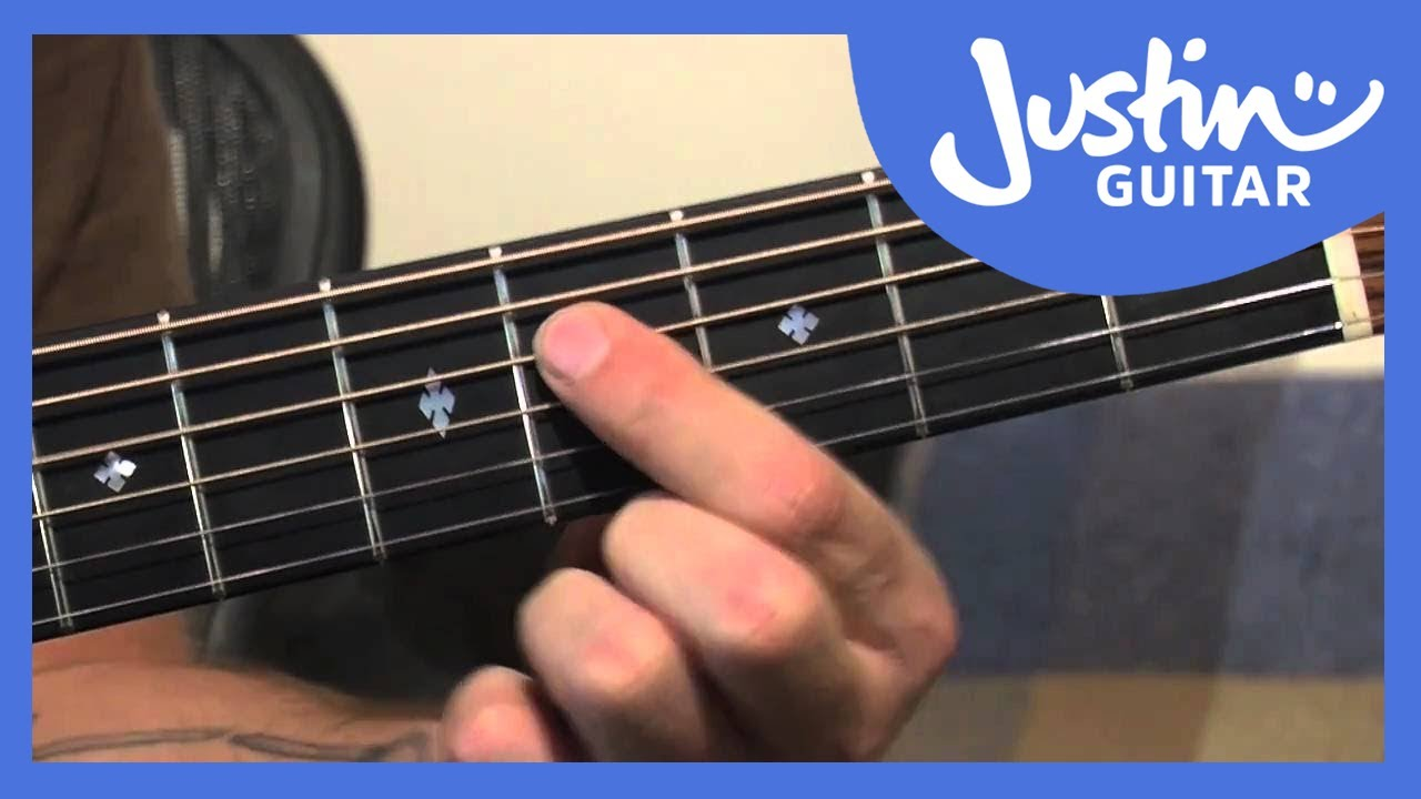 A Shape Major Barre Chord Grip Justinguitar
