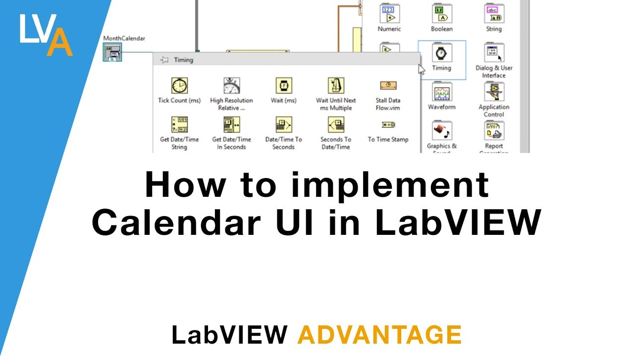 How to implement Calendar UI in LabVIEW using  NET Container