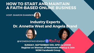 Women of Movement Business Show today with  Dr. Annette West and Angela N. Brand