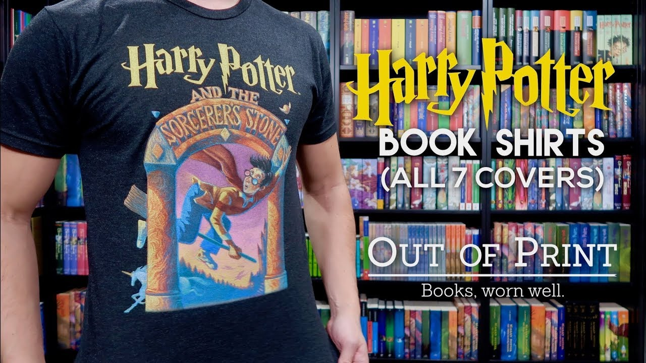 image about Harry Potter Book Covers Printable known as HARRY POTTER E book Address SHIRTS Via OUT OF PRINT ALL 7 Addresses