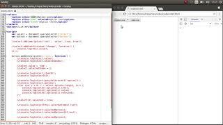 Работа с выпадающем списком select на JavaScript