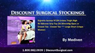 Medi Plus Thigh High With Waist Attachment 20-30 Firm Compre