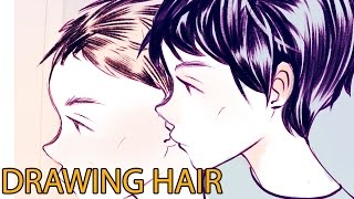 Drawing anime hair in 4 different ways + rambles