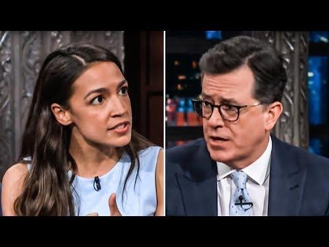 Alexandria Ocasio-Cortez Brilliantly Explains What A Democratic Socialist Is To Stephen Colbert