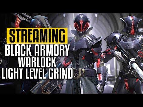 destiny 2 black armory warlock light level grind pc gameplay