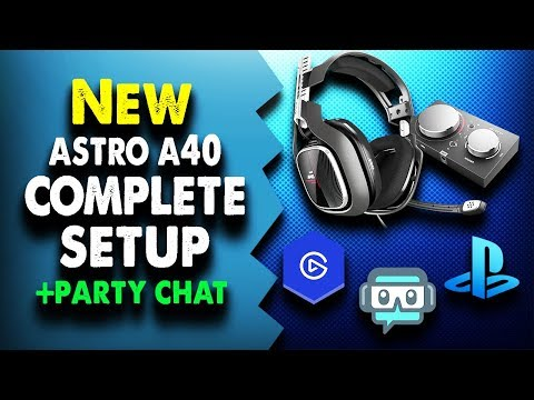 How To Record/stream Party Chat With NEW ASTRO A40 TR 2019 || PS4