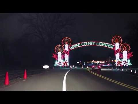 Wayne County Lightfest - drive thru light show. Guide for your visit