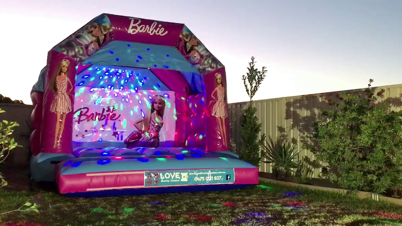 Barbie Bouncy Castle Hire Perth - Love Bouncy Castles - YouTube