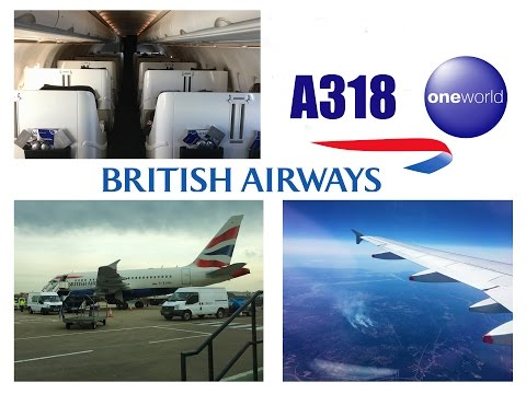 British Airways Business Class Airbus A318 London City to Ne