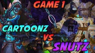 Cartoonz 3v3 vs Snutz Biotox Cdew - Game 1 (World of Warcraft PvP / Arena)