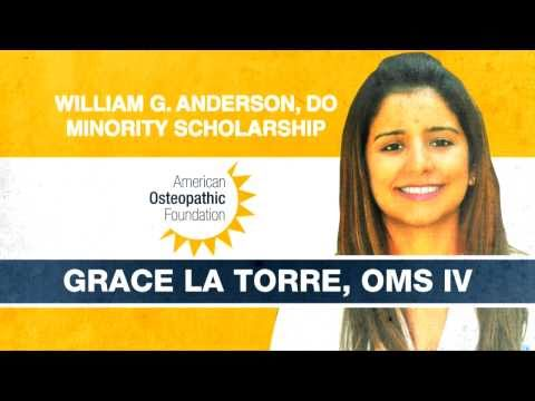 DO Minority Student Awarded Scholarship