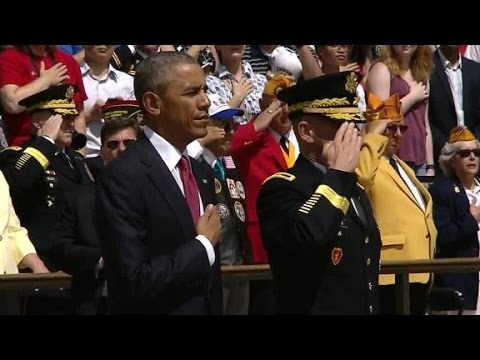 President Obama marks last Memorial Day in office
