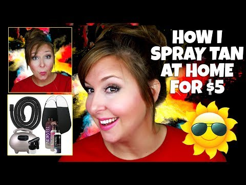 HOW TO SPRAY TAN AT HOME FOR $5!!! DIY Professional Spray Tan!!