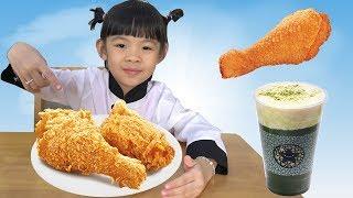 Ngày Chủ Nhật: Ăn Gà Rán + Uống Trà Sữa + Đi Siêu Thị ❤ AnAn ToysReview TV ❤