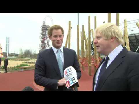 Prince Harry and Boris joke about Prince George