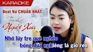 Tìm Lại Người Xưa Karaoke Nữ Beat Chuẩn Nhất - Vy Hoàng
