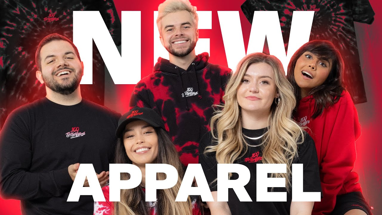 Revealing 100 Thieves' NEWEST Apparel Collection (BTS) ft. Valkyrae, CouRage, Nadeshot & More!