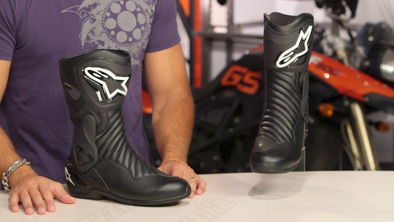 Street Waterproof Motorcycle Boots Black Alpinestars SMX-6 V2 Drystar Track