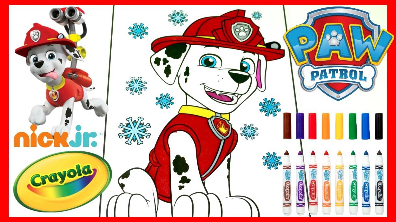 paw patrol pup marshall color with me cutiepietoysurprise