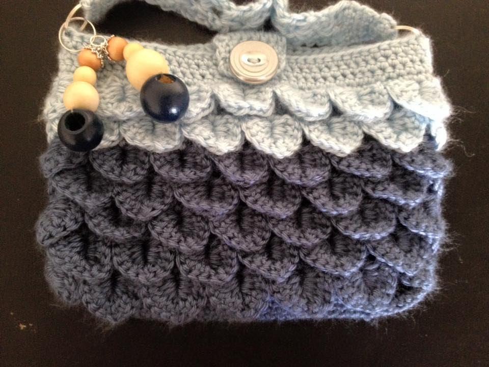 Crocodile stitch purse mobile pouch handbag crochet - Tamil English ... b5ee7f341173b