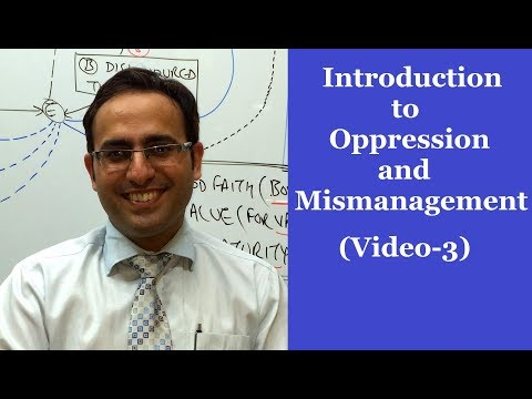 Introduction to Oppression & Mismanagement (Majority & Minority Rule)-Video-3