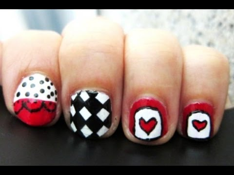 Diseño de uñas 14 ╫ Reina de corazones ╫