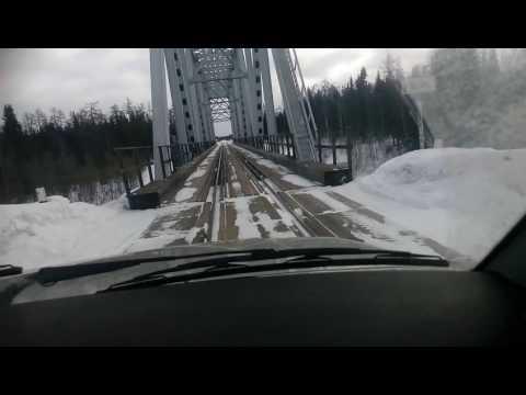 вымь верховье переезд через ж.д. мост на машине