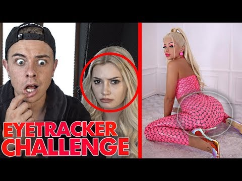 "EYETRACKER CHALLENGE ""Katja Krasavice"" 😳 - Denise Reaktion"