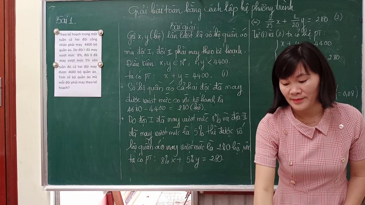 """Toán lớp 9 Giải bài toán bằng cách lập hệ phương trình ' cực kỳ dễ hiểu"""""""