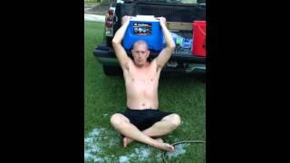 Gary taking the #ALSIceBucketChallenge