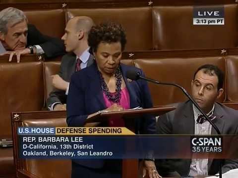 Congresswoman Barbara Lee Offers Amendment to Prevent Iraq War