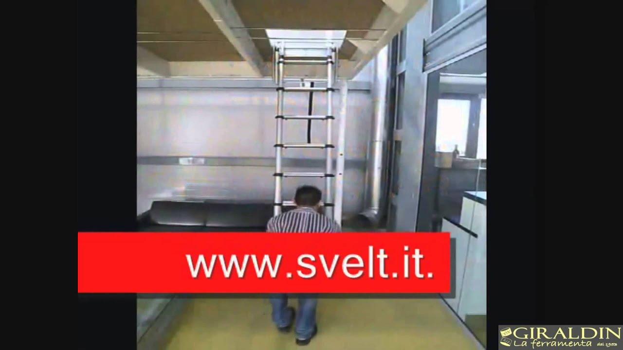 Scala Retrattile Telescopica Per Soppalchi Mansarde Soffitta