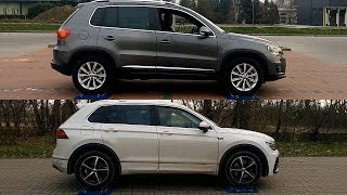 Volkswagen Tiguan I vs VW Tiguan II - 4Motion - 4x4 test on rollers