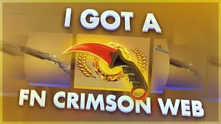 I got a Crimson Web (Factory New) !?
