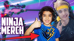 SURPRISING MY 5 YEAR OLD LITTLE BROTHER WITH NINJA FORTNITE MERCH! | NINJAS BIGGEST FAN BUYS MERCH