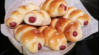 Chinese Bakery Style Hot Dog Bun Recipe