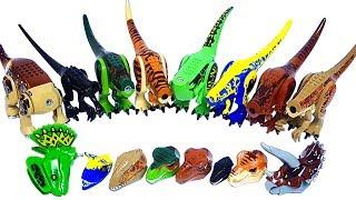 Learn Dinosaur names with Jurassic world lego dinosaur