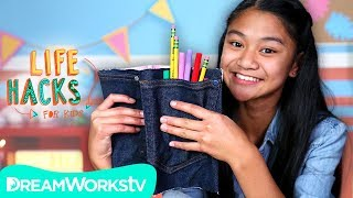 No-Sew Denim Book Cover + More Jean Hacks | LIFE HACKS FOR KIDS