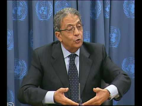 MaximsNewsNetwork: AMRE MOUSSA, S-G ARAB LEAGUE @ UNITED NATIONS