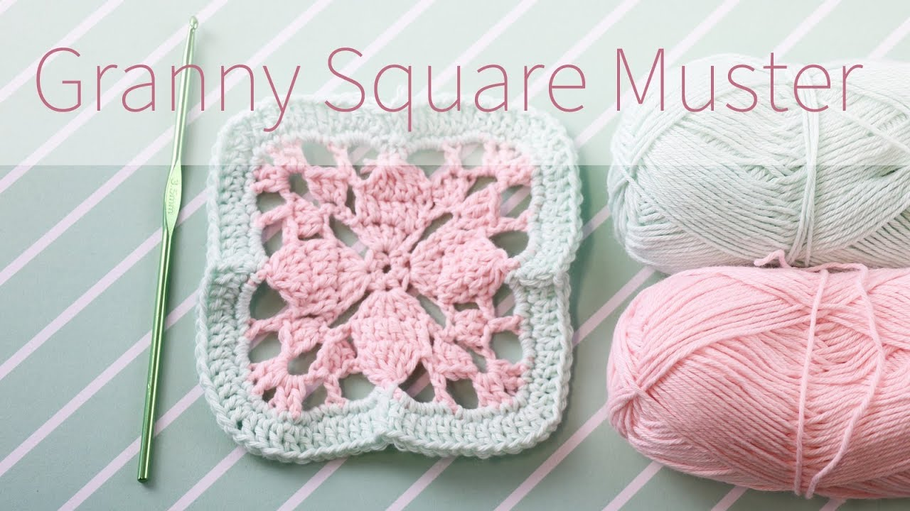 Granny Squares Muster 1 Häkelanleitung Talude Youtube