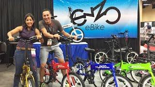 2017 Enzo Folding Ebikes at Interbike (Gates Belt Drive, Mag Wheels, Mid-Drive Folding, Hydraulic)