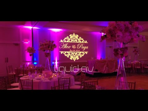 Wedding Monogram Lighting Liquid Av