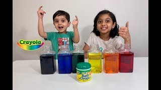 LEARNING COLORS for Kids Toddlers Children Video (Fun way) - Crayola Bath Dropz
